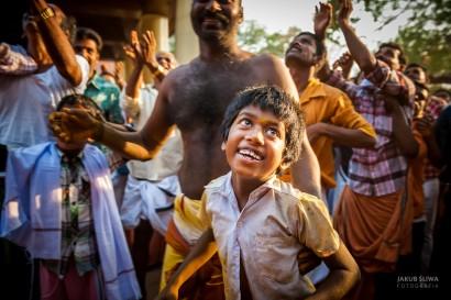 Jakub Śliwa święto Kodungallur Bharani, Kerala, Indie.